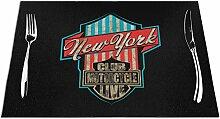 Ering6o Vintage New York City Schild gewebte