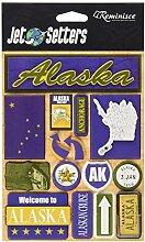 Erinnerung Alaska Jet Setter dreidimensionale Aufkleber