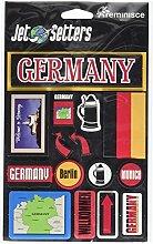 Erinnerung Germany Jet Setter dreidimensionale Aufkleber