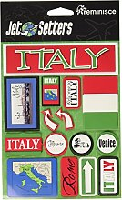 Erinnerung Italien Jet Setter dreidimensionale Aufkleber