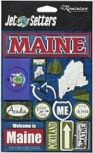 Erinnerung Maine Jet Setter dreidimensionale Aufkleber