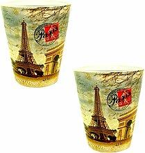 Erinnerungen de France–2x Gläser 'Junggesellenabschied' Paris Eiffelturm