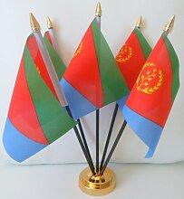 Eritrea Flagge Eritrea 5Chefsessel Tisch Tisch mit Basis Gold