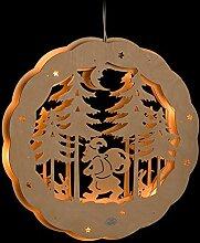 ERM Holzmanufaktur 3D Fensterbild Weihnachtsmann