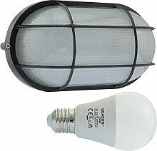 ERPE-LED 12 - E27 - Aluminium -Alu wandstrahler