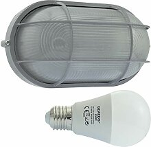 ERPE -LED 12W - E27 - Aluminium -Alu wandstrahler