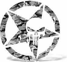 ERREINGE Punisher Sticker Silber 25 cm - Punisher