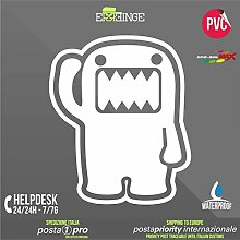 [ERREINGE] STICKER PRE-SPACED bianco 24cm - Domo