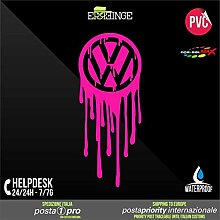 [ERREINGE] STICKER PRE-SPACED FLUORESZIERENDE ROSA