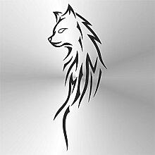 erreinge Sticker Volpe Fox Renard Zorro Fuchs Nero