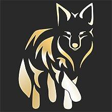 erreinge Sticker Volpe Fox Renard Zorro Fuchs ORO