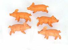 ERRO 5er Set Glücksschwein 4 cm - Geschenkidee