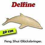 ERRO Geschenkidee - Delfin naturholz, 20 cm