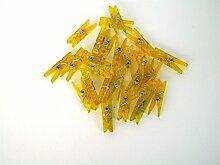 ERRO Wäscheklammern gelb 25 STK. glitzernd zum