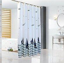ERRU-Duschvorhang Polyester Duschvorhang / Verdickung Wasserdichte Mehltau Badezimmer Duschvorhang / Bad Duschvorhang / Duschvorhang / Yang Fan Duschvorhang (Größe optional) Wasserdicht ( größe : 280*200cm )