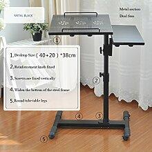 ERRU - Laptop-Tisch Laptop Tisch Höhenverstellbar / Familie Ausgaben Laptop-Stand / Bedside Kleine Buchtisch / OverBed Sofa Laptop-Tisch (schwarz, weiß) Notebook-Computertische ( farbe : Schwarz , größe : # 2 )