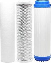 Ersatz Filter Kit für maxwater 103461RO System–inkl. Carbon Block Filter, Sediment Filter & GAC Filter–Denali Pure Marke