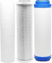 Ersatz Filter Kit für purepro fs401-s RO System–inkl. Carbon Block Filter, Sediment Filter & GAC Filter–Denali Pure Marke