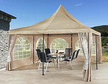 Ersatzdach 4x4m für Lounge Pavillon Sahara Sand