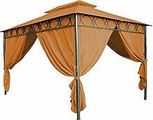 Ersatzdach für Pavillon Cape Town 4x3m - wasserdicht - in 3 Farben - Pavillondach mit PVC Beschichtung (Terracotta)