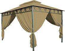 Ersatzdach für Pavillon Cape Town 4x3m - wasserdicht - in 3 Farben - Pavillondach mit PVC Beschichtung (Braun)