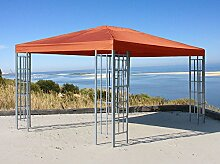Ersatzdach zu Aluoptik Pavillon 3x4m Terrakotta