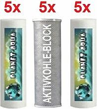 Ersatzfilter SET 15 Fiter Patronen für die Umkehrosmose Osmoseanlage Wasserfilter Sediment und Aktivkohle Block Kartuschen 10 Zoll für Wasser Trinkwasser Osmose