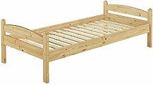 Erst-Holz 60.32-09 Einzelbett mit Rollrost - 90x200 - Massivholz Natur