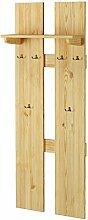 Erst-Holz® Breite Wand-Garderobe Kiefer massiv