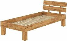 Erst-Holz® Buchebett massiv Einzelbett 100x200