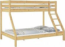 Erst-Holz® Doppel-Etagenbett 140x200 und 90x200