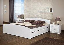 Erst-Holz® Doppelbett Bettkasten Rollrost 200x200