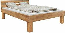 Erst-Holz® Doppelbett Buche 140x200 hohes