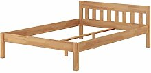 Erst-Holz® Doppelbett Buchebett geölt Massivholz