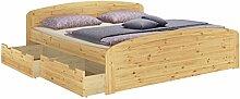 Erst-Holz® Ehebett Doppelbett Bettkasten