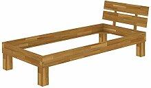 Erst-Holz® Eiche-Bettgestell massiv Einzelbett