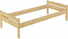 Erst-Holz® Einzel-Bett Kiefer Natur 100x200