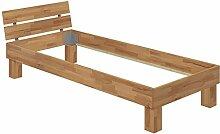 Erst-Holz® Einzelbett Buche-Bettgestell Natur