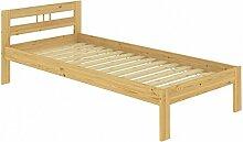Erst-Holz® Einzelbett Kiefer Natur Massivholz