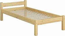 Erst-Holz® Einzelbett Kiefer Natur Massivholzbett