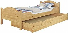Erst-Holz® Einzelbett Massivholz Kiefer Natur