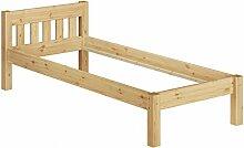 Erst-Holz® Einzelbett Massivholzbett Kiefer Natur