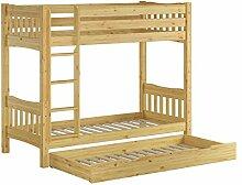 Erst-Holz® Etagenbett Bettkasten Kiefer