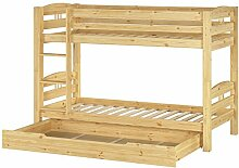 Erst-Holz® Etagenbett Kiefer Massivholz Stockbett