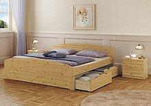 Erst-Holz® Funktionsbett Doppelbett Bettkasten