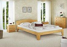 Erst-Holz® Futonbett Doppelbett Kiefer natur 140x200 Massivholzbett mit Rollrost Jugendbett 60.63-14