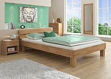 Erst-Holz® Futonbett Doppelbett mit Überlänge