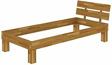 Erst-Holz® Holzbett Eiche massiv Einzelbett