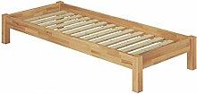 Erst-Holz® Holzbett Einzelbett 100x200 Buchebett