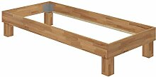 Erst-Holz® Holzbett Einzelbett 90x200 Buche